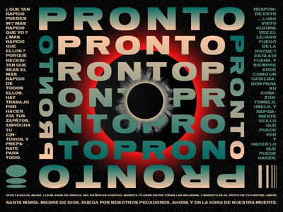 PRONTO typography collage abstract poster illustration
