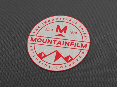Mountainfilm Patches illustration logo seal badge patch