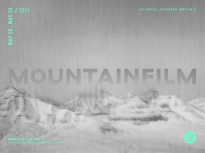 Mountainfilm 2017 Poster festival film abstract typography layout poster