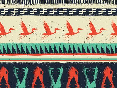 Big Cypress National Preserve wildlife texture icon illustration typography poster