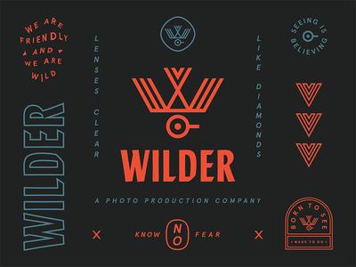 Wilder illustration identity brand seal badge typography icon logo