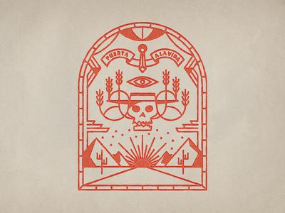 Door to life, door to death icon illustration