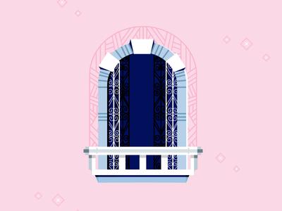 Windows of andalusië balcony glass building house window vector adobe illustrator windows