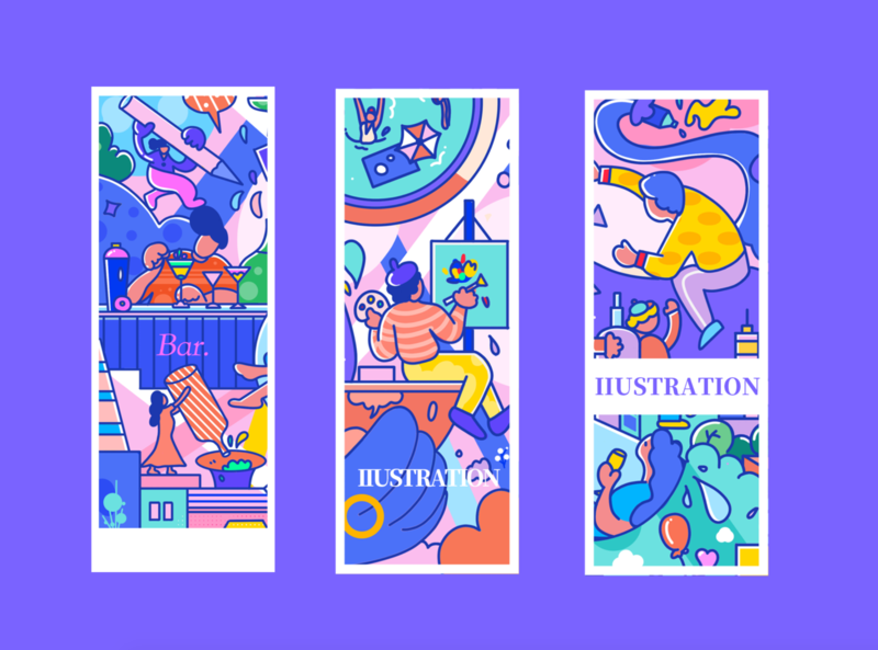 酒拉~ design 平面 branding dribbleartist illustration