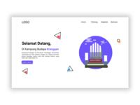 kranggan Website branding web typography illustration ui
