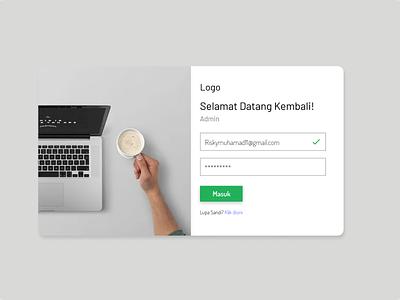 Login Page design branding flat web typography