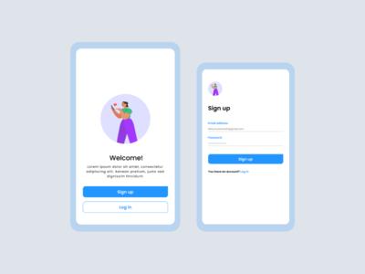 Splash Screen mobile splash login vector app flat design ui
