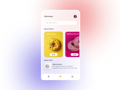 Donuts app mobile ui mobile ux app design typography