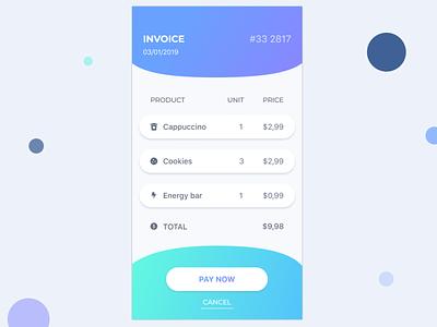 Invoice Application uidesignpatterns gradient finance money ux ui design ios application app uiux