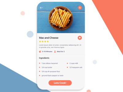 Daily Ui #40 - Recipe App Concept