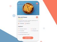 Daily Ui #40 - Recipe App Concept