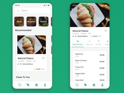 Food App Menu Concept