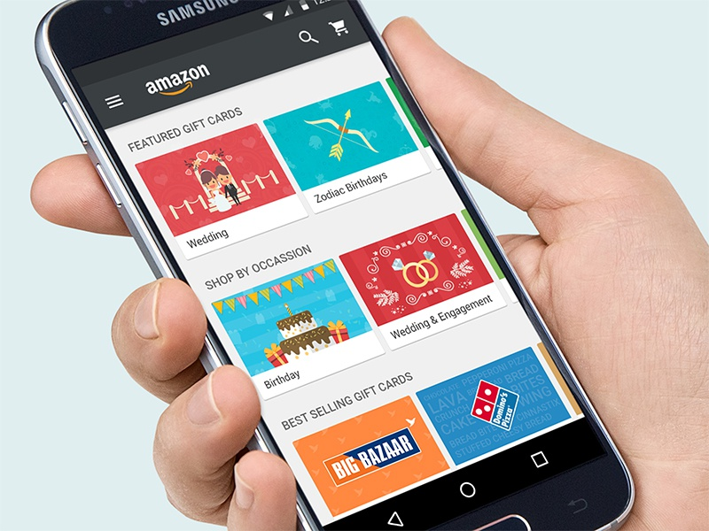 Amazon S Android App Concept Design For Shop Cards by Montu Yadav ...