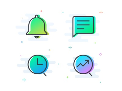 Icons Set 5 search history icon message message icon chat chat icon notification notification icon bell icon bell gradient gradient icon icon iconography neon color icons neon gradient icons angular gradient icons colored icons angular icons icons gradient icons
