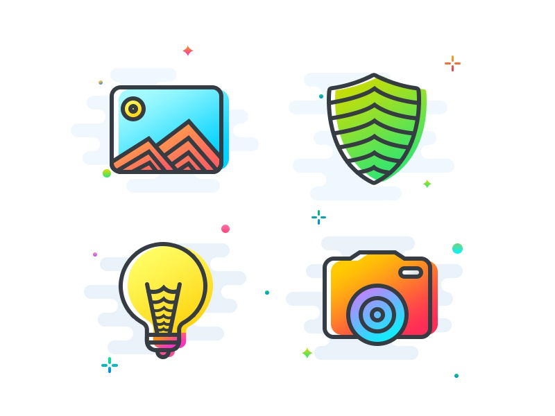Colored icons 7