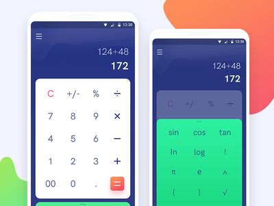 Calculator App Design Challenge For uplabs