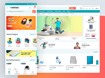 Shopclues buyer experience for mobile and web