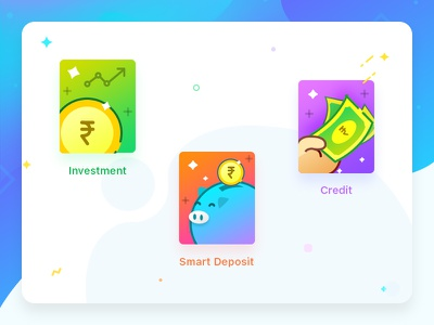 Finance icons credit icon deposit icon smart deposit icon gradient icons investment icon finance icons