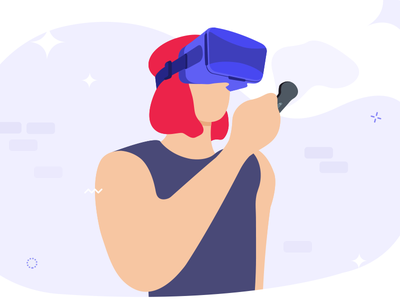 Virtual Reality Illustration girl with vr girl illustration flat illustration illustration virtual reality illustration vr virtual reality