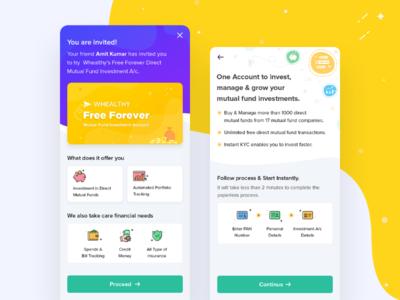 Finance app designs