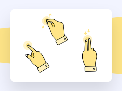 Gestures gesture icon hand icon hand illustration pinch zoom gesture touch and hold gesture touch gesture swipedown gesture gesture gestures