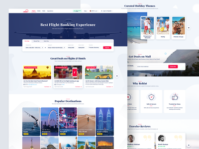 Flight & Hotel Booking Experience Design hotel search flight search hotel flight website hotel booking landing page flight booking landing hotel booking landing landing flight booking landing page homepage landing page popular destination rehlat hotel booking website flight booking website hotel booking flight booking