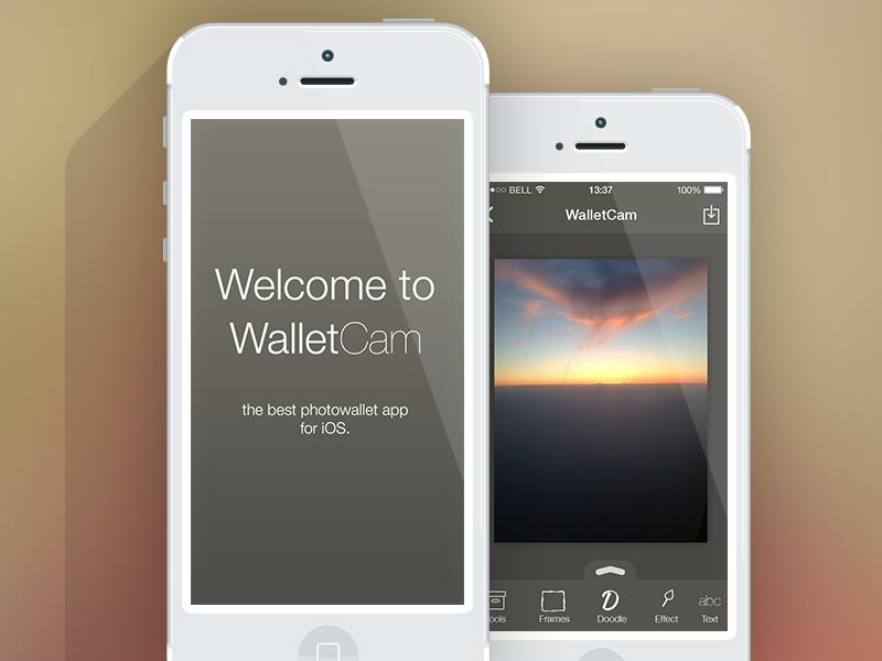 WalletCamera UI Splashscreen + Editor app ios ios7 ui iphone