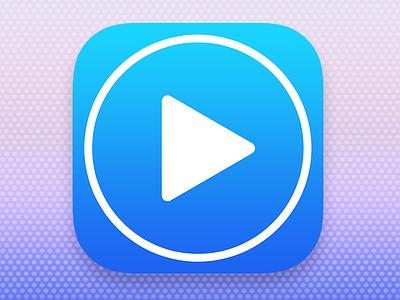 MoviePlayer App Icon icon ios7 ios app iphone ipad