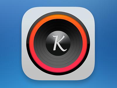 Karaoke App Light Icon iphone app ios ios7 icon