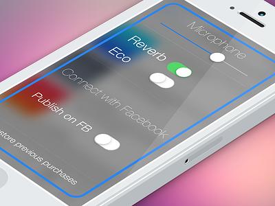 Karaoke App Settings app ios ios7 ui interface iphone