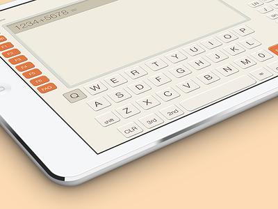 Cas Calc 3D UI app ios ios7 ui interface ipad
