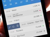 Swipe To Delete - Spendy iOS App