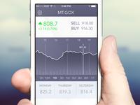 BTC Bitcoin Tracker iOS App