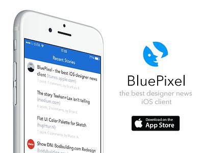 BluePixel - the best iOS Designer News client ios app mobiledn designer news blue ios 7 flat