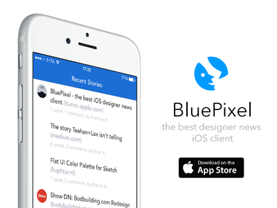 BluePixel - the best iOS Designer News client
