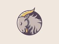 goat grey brown color goat mascot logotype animal logo business animal vector illustration concept logo design