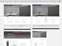 Visual Redesign of Portfolio in Sketch  sketch workflow ui website personal css html responsive