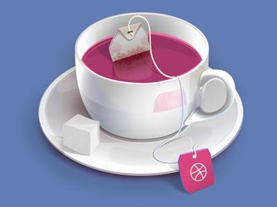 Dribbble Tea Cup tasted drink icon tea cup illustration dribbble