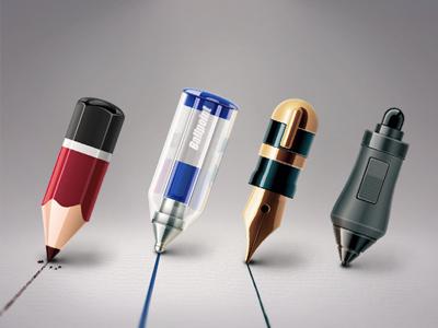 pen in the time ballpoint pen icon pencil digital