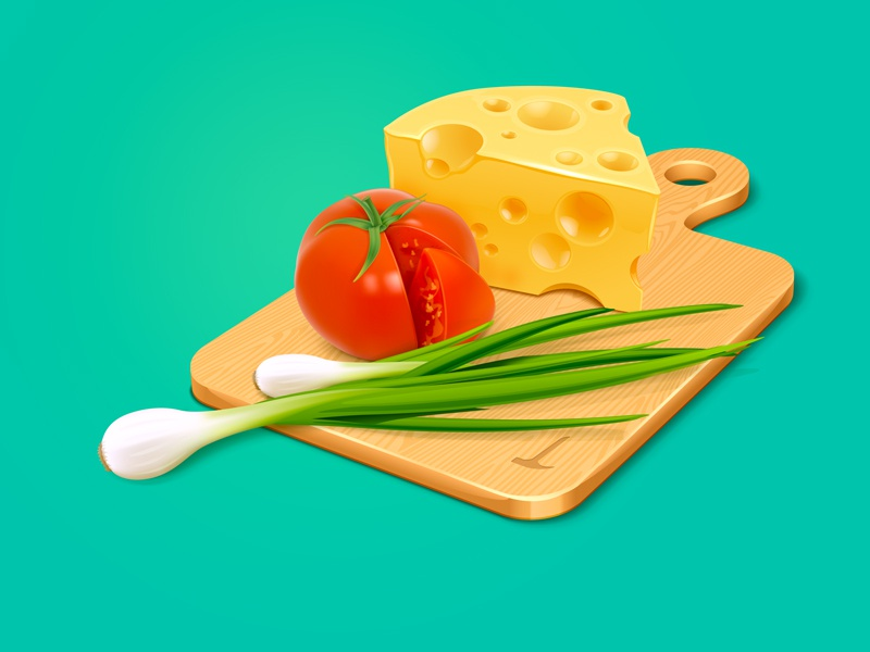 Recipes have cheese, tomatoes…… tomato scallion cheese food cook soup icon illustration vegetable