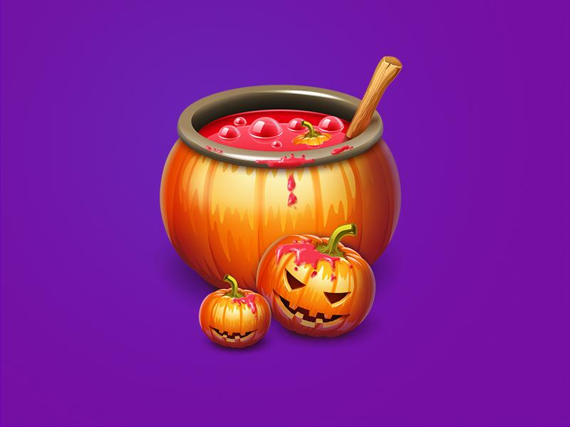 halloween pumpkin halloween pumpkin juice icon illustration