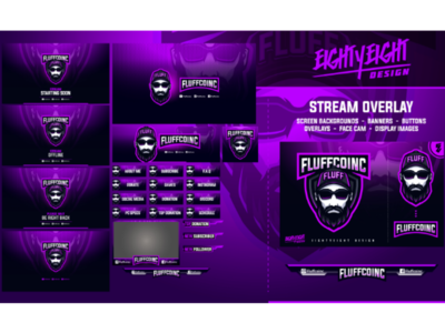 Custom Stream Twitch Overlay for Fluffcoinc