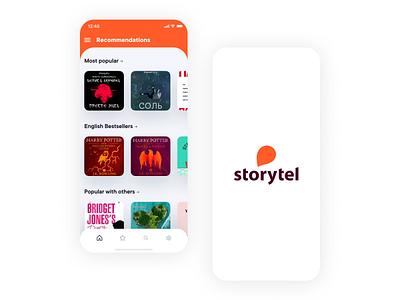 Storytel Mobile App mobile ui ios app icon web design mobile design mobile design web ux ui app
