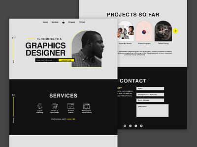 Designer Portfolio Page photoshop confidence brand designer user experience user interface design portfolio designer portfolio design icon app typography ux vector branding logo graphic design ui