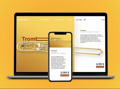 Music Shop E-Commerce UI/UX Web Design