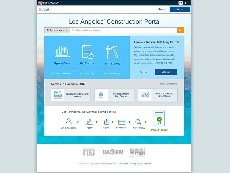 BuildLA permit online ladbs los angeles civic