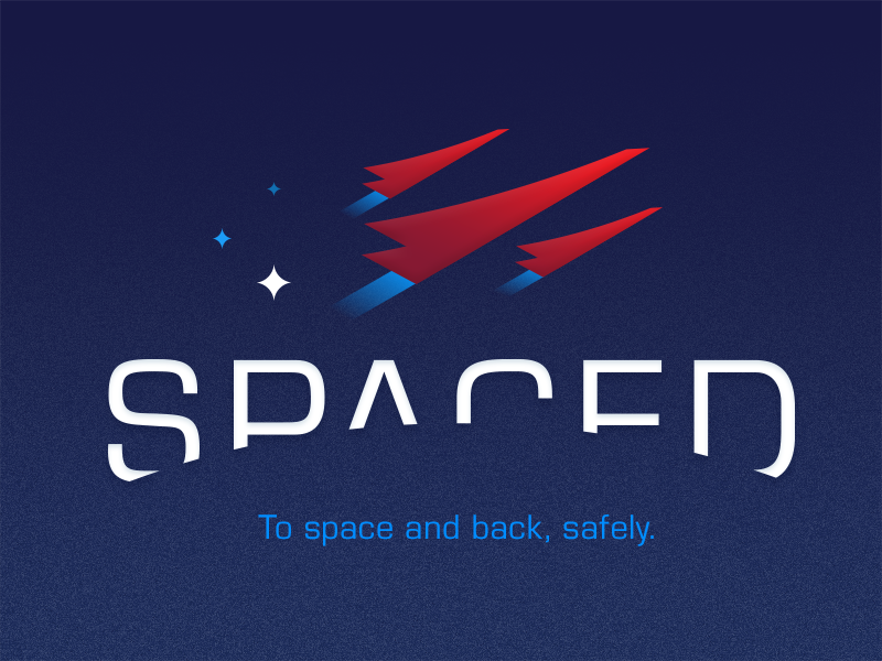 SPACED Logo for Dribbble by David Martinez challenge spaced petty dann spacedchallenge