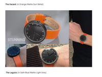 Kickstarter Campaign for a watch company