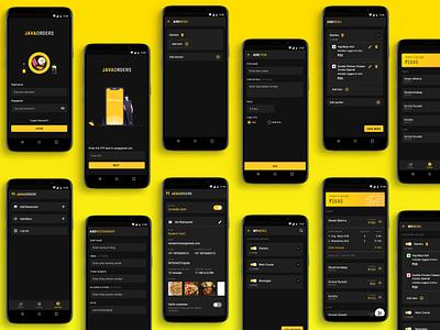 Vendor app - food vendors foodapp icon design art dark ui vector branding mockup app ux ui design