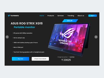 TechMatrix Homepage ui hardware website web design